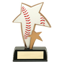 "6"" Star Resin Baseball Trophy"