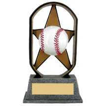 "Baseball Trophy - 5"" Economical Star Resin Baseball Trophy"