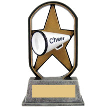 "5"" Economical Star Resin Cheer Trophy"