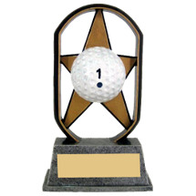 "5"" Economical Star Resin Golf Trophy"