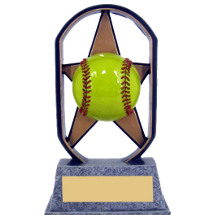 "5"" Economical Star Resin Softball Trophy"