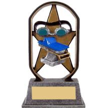 "5"" Economical Star Resin Swim Trophy"