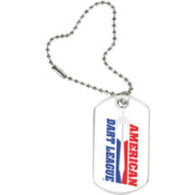 American Dart League Sports Tag with Key Chain