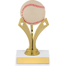 "6"" Baseball Trophy with a Star Riser"