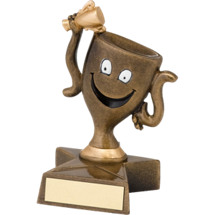 "4"" Resin Happy Trophy Cup"