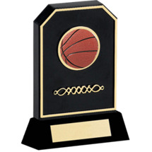 "Basketball Trophy - 6 3/4"" Black Acrylic 3-D Basketball Trophy"