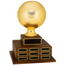 "18 1/2"" Official Size Basketball Perpetual Award"