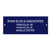 "1 x 3"" Air Force Blue Laminated Plate with 2 Holes and Screws"