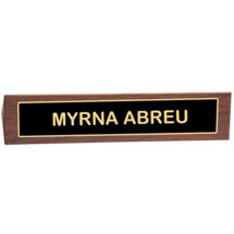 "10 1/2 x 2"" Name Placard w/Black Brass Plate"