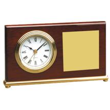 "7 1/2 x 4"" Deskset w/ Quartz Clock"