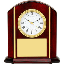 "7 x 7 3/4"" Rosewood Clock Deskset"