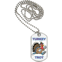 Turkey Trot Sports Tag with Neck Chain