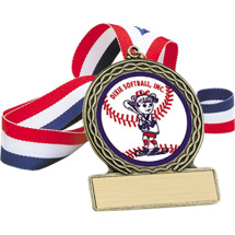 "Softball Medal - 2 3/4"" Dixie Softball Inc. Medal"