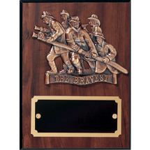 "9 x 12"" Fire Department The Bravest Plaque"