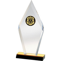 Modern Diamond Acrylic Police Award