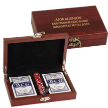 "5 x 7 1/2"" Personalized Card and Dice Set"