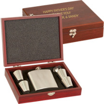 "9 1/2  x 7 1/8"" Personalized Flask and Shot Glass Set"