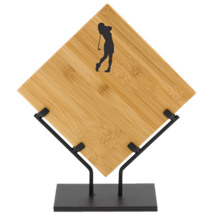 "10 1/2 x 12 1/2"" Bamboo Plaque with Female Golf Design"