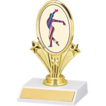 """5 3/4"""" Gymnastics Oval Riser Trophy"""
