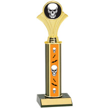 Halloween Trophy - Skull Trophy with Skull Design