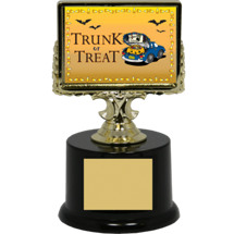 "6 1/4"" Black Acrylic ""Trunk or Treat"" Trophy"