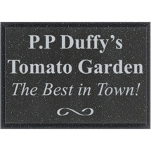 "7 x 5"" Outdoor Black AcrylaStone Plaque"
