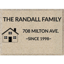 "12 x 9"" Off-White Outdoor AcrylaStone Plaque"