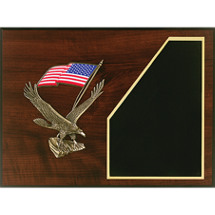 "12 x 9"" American Flag Plaque"