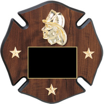 "8 x 8 - 10 x10"" Firefighter Star of Life Plaque"