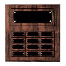 """11 x 13"""" Classic Perpetual Plaque - 12 Nameplates"""