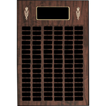 "13 x 20"" Perpetual Plaque - 40 Nameplates & Torch Trim"