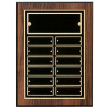 "9 x 12"" Honoree of the Month Perpetual Plaque - 12 Nameplates"