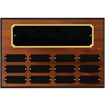 "12 x 8"" Honoree of the Month Perpetual Plaque - 12 Nameplates"