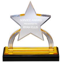 "7 x 6 1/4"" Lucite Star Award"