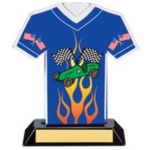 """7"""" Pinewood Derby Jersey Trophy"""