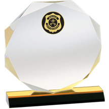 Octagonal Acrylic Police Award