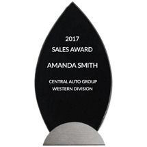 Modern Glass Stand-Up Award - 4 1/2 x 9 5/8""