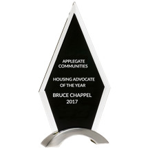 Glass Arrowhead Stand-Up Award - 5 5/8 x 9 5/8""