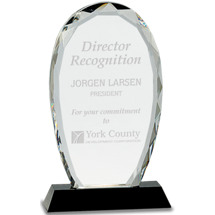 "4 x 7 1/4"" Clear Crystal Award"