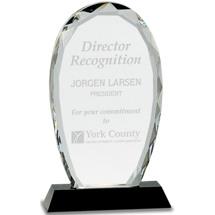 """4 x 7 1/4"""" Clear Crystal Award"""