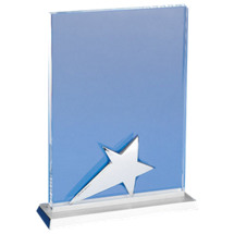 """6 x 8"""" Clear Glass Star Plaque"""