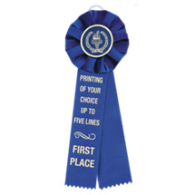 "4 x 12"" Custom Printed 2 Streamer Rosette Ribbon"