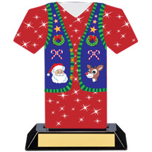 Red Christmas Sweater Trophy
