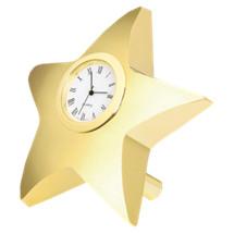 """DINN DEAL! 4 x 4"""" Gold Star Clock Desk Set"""