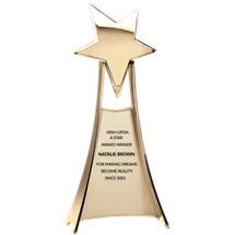 "4 3/4 x 11"" Gold Standing Star Award"