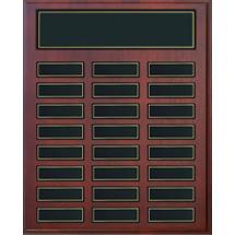 "12 x 15"" Rosewood Plaque - 24 Nameplates"