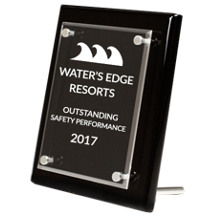 Black Rectangular Stand-Up Award - 8 x 10""