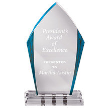 "5 1/2 x 9 1/2"" Blue Marbleized Award with Magnetic Fasteners"