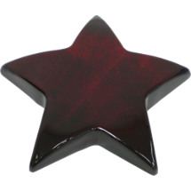 "5 3/8 x 3/4"" Rosewood Star Paperweight Award"