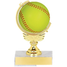 "5 1/2"" Squeezable Spinning Softball Trophy"